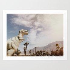 Pee Wee's Dinosaurs Art Print