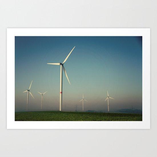 Windmills in the Sun Art Print