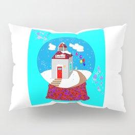 A Winter Wonderland Snow Globe School House Pillow Sham