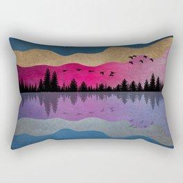 Starry Night Reflection Rectangular Pillow