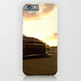 japanese racing car skyline gtr gt3 dramatic sky  iPhone Case