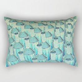 Abstract Green Glass Bottles Rectangular Pillow