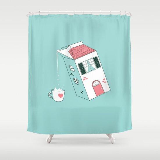 Housepour Shower Curtain