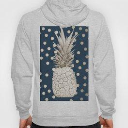 Gold Pineapple Polka Dots 2 Hoody