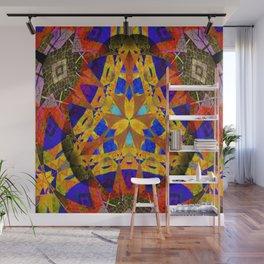 Stellar Vintage Geometric Meditation Mixed Media Mandala Wall Mural