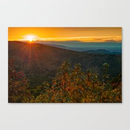 Sunset Point Vista - Talimena Scenic Byway in Autumn Canvas Print