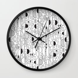SKIPPING STONES Wall Clock