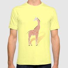 Animal Kingdom: Giraffe I Lemon SMALL Mens Fitted Tee