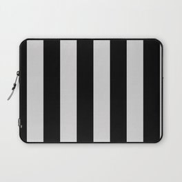 Black and Gray Vertical Stripes Laptop Sleeve