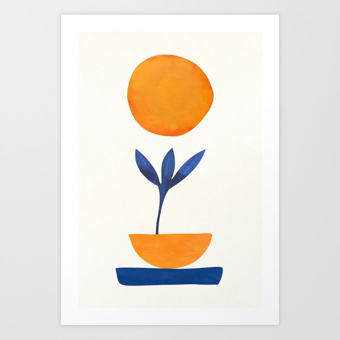 The Little One / Abstract Plant Painting Art Print