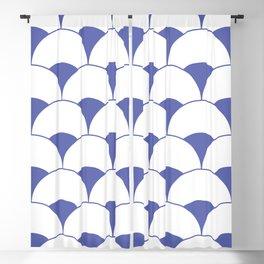 Art Deco Scales Blue Blackout Curtain