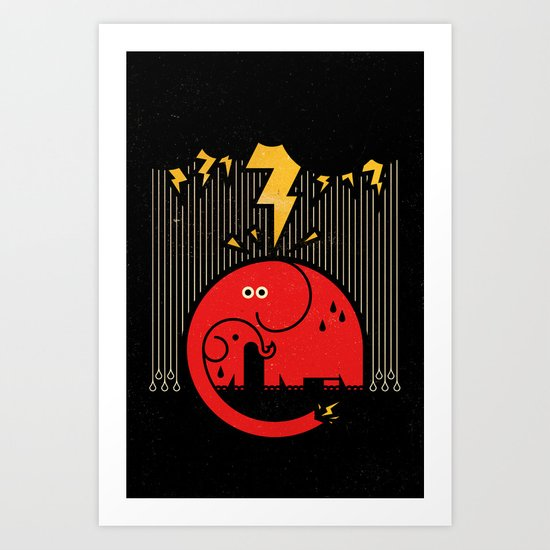 Shocker! Art Print