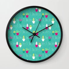 Mini Cactus Love Wall Clock