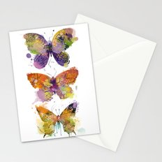 3 farfalle Stationery Cards
