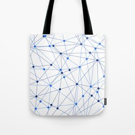 Network background. Connection concept. Tote Bag