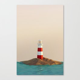 calm lighthouse Canvas Print