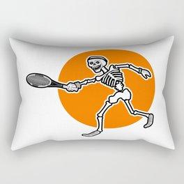 Calavera playing Tennis Rectangular Pillow