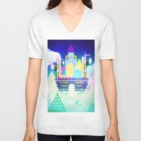 castle in the sky V-neck T-shirts featuring Castle in the Sky by Alexander Pohl