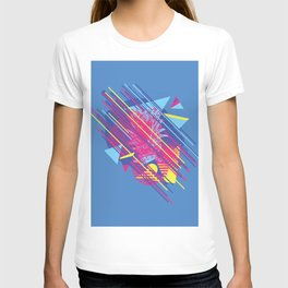 Pineapple with colorful geometric elements retro style design T-shirt