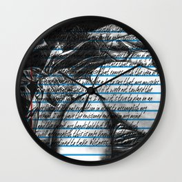Loose Leaf Doodles: Distractions Wall Clock