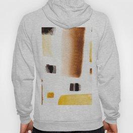 Modern brown black minimalist watercolor abstract geometric pattern Hoody