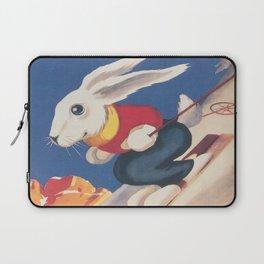 Dolomiti Ski Bunny Vintage Poster Laptop Sleeve