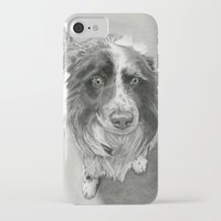 border collie iPhone & iPod Cases featuring Border Collie by Sarahphim Art