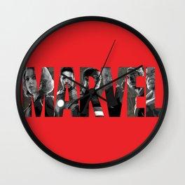 earth's mightiest heroes Wall Clock
