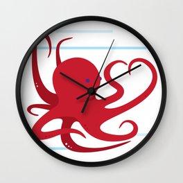 Octopus Love Wall Clock