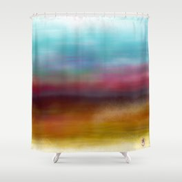 C for Colorful Shower Curtain