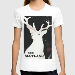 See Scotland vintage style travel poster T-shirt