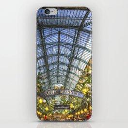 The Apple Market Covent Garden London Oil iPhone Skin