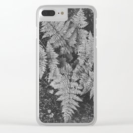Ansel Adams - Close-up of Fern at Glacier National Park Clear iPhone Case