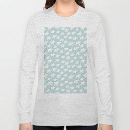 Stars on mint background Long Sleeve T-shirt