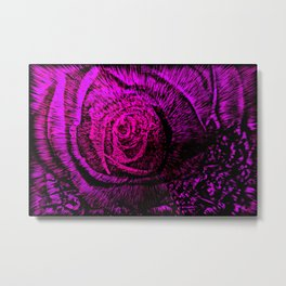 Hidden Rose Metal Print