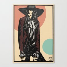 Cowboy hat girl  Canvas Print