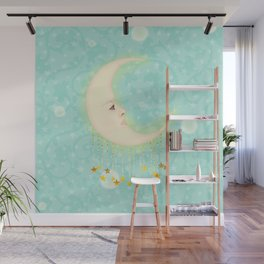 Woman in the Moon Wall Mural
