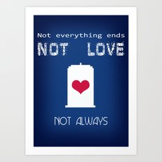 Doctor Who - not love not always Art Print