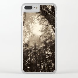 Smokey Trees Clear iPhone Case