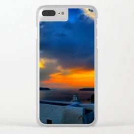 Santorini 28 Clear iPhone Case
