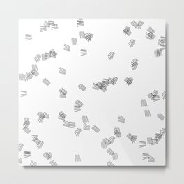 Black & white puzzle Metal Print