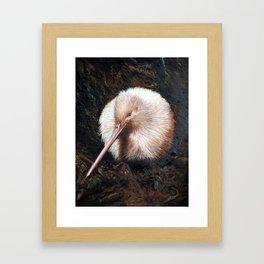 """""""White Kiwi"""" Framed Art Print"""