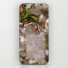 Worthy of praise iPhone Skin
