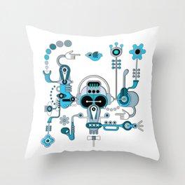 The Bluesman Throw Pillow
