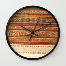 Moroccan Palace Patterns Wall Clock