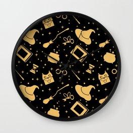 Magic symbols (black) Wall Clock