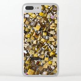 Love Locks in Paris Clear iPhone Case