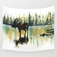 moose Wall Tapestries featuring Moose by kenmeyerjr