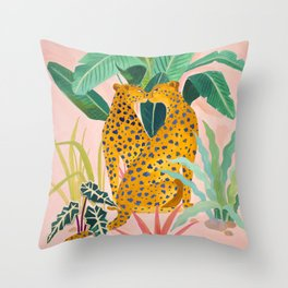 Cheetah Crush Throw Pillow
