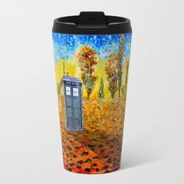 Tardis at Fall Grass field Art painting iPhone 4 4s 5 5c 6, pillow case, mugs and tshirt Travel Mug